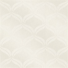 Petals Ivory Ogee Wallpaper