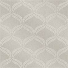Petals Taupe Ogee Wallpaper