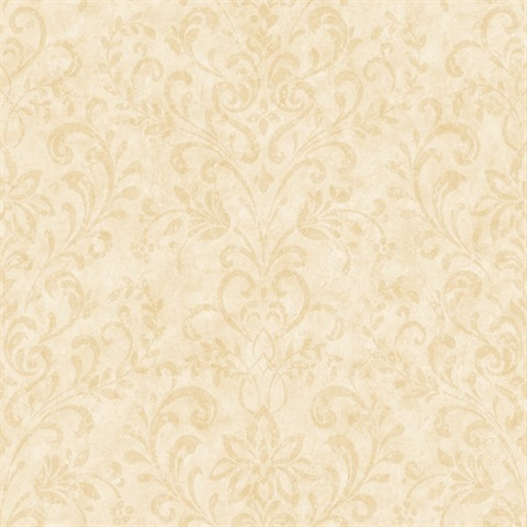 Phillip Cream Country Damask Wallpaper