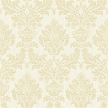Piers Cream Texture Damask