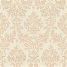 Piers Rose Gold Texture Damask