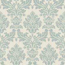 Piers Teal Texture Damask