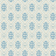 Pigkammaren Blue Ogee Wallpaper