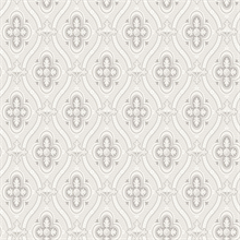 Pigkammaren Light Grey Ogee Wallpaper