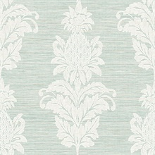 Pineapple Grove Turquoise Damask