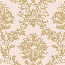 Pink and Gold Dimitrie Damask