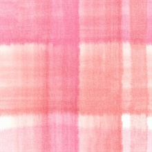 Pink and Orange Conte Plaid