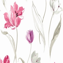 Pink and Purple Tulip Toss Floral