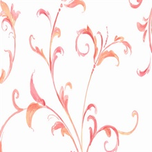 Pink and White Arbor Scroll