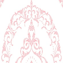 Pink and White Medallion