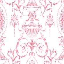 Pink and White Tricia Damask
