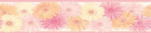 Pink Becca Pink Daisy Chain Border