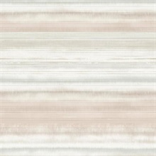 Pink & Beige Fleeting Horizon Horizontal Stripe