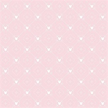 Pink Disney Mickey Mouse Argyle Wallpaper