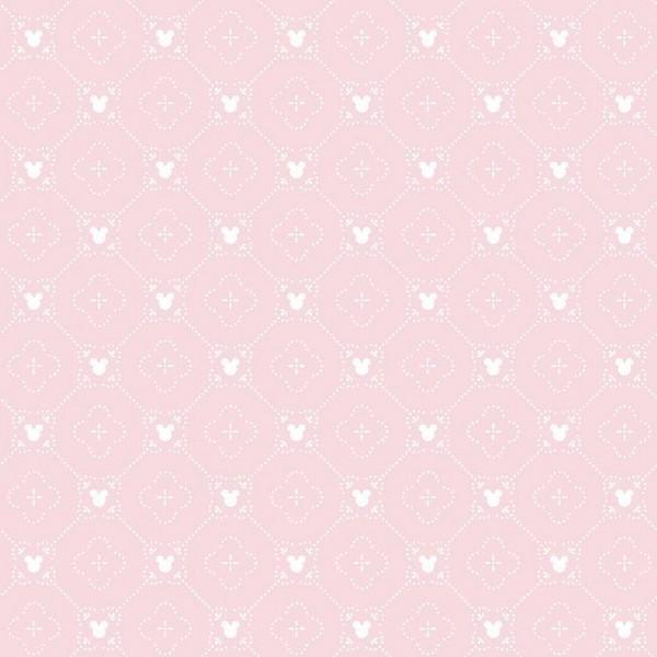Di0979 Pink Disney Mickey Mouse Argyle Wallpaper
