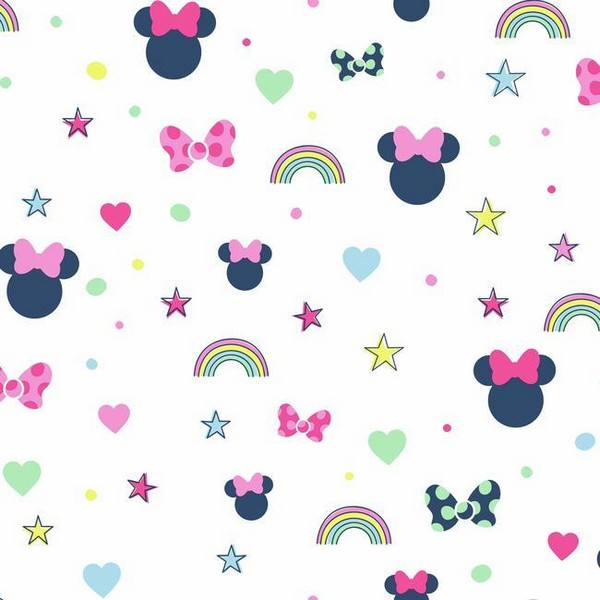 Pink Disney Minnie Mouse Rainbow Wallpaper