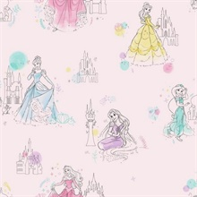 Pink Disney Princess Pretty Elegant Wallpaper