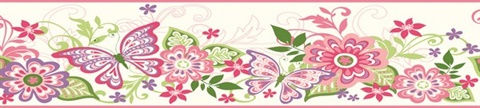 Pink Kendra Pink Butterflies Blooms Trail Border