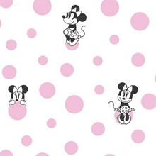 Pink Minnie Dots Wallpaper
