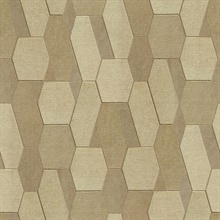 Plaza Light Brown Geometric Wallpaper