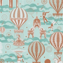 Pleasure Gardens - Pale Verdigris colourway wallpaper