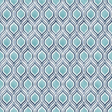 Plume Turquoise Ogee Wallpaper