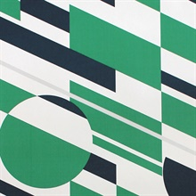 P.L.U.T.O. - Coach Emerald & Silver colourway wallpaper
