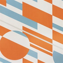 P.L.U.T.O. - Tangerine Dream & Silver colourway wallpaper