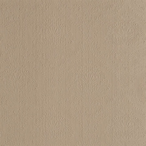 Poesy Beige Damask Wallpaper