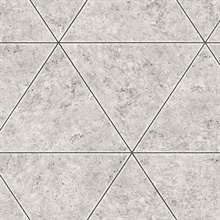Polished Concrete Grey Geometric Wallpaper