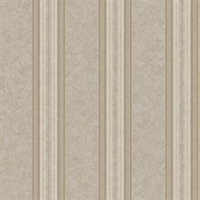 Poppy Grey Baroque Stripe Wallpaper