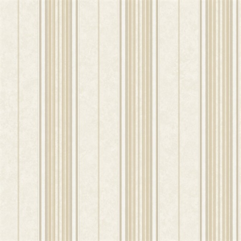 Poppy Winter Baroque Stripe Wallpaper