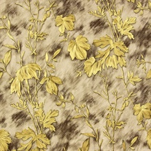 Portofino Light Brown Cow Leaves Wallpaper