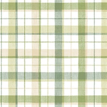 Pretty Green Plaid Wallpaper