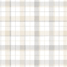 Pretty Plaid Beige Wallpaper