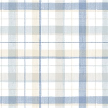 Pretty Plaid Blue Wallpaper