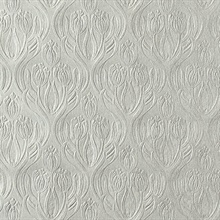 Printemps Pewter Tulip Ogee Wallpaper