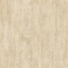 Priscilla Sand Faux Wood Wallpaper