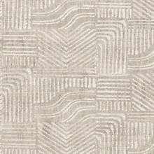Pueblo Light Grey Global Geometric Wallpaper
