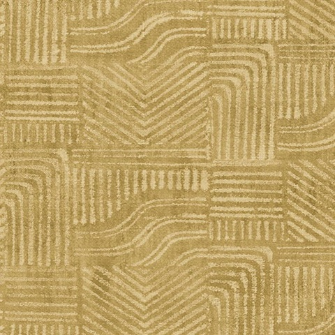Pueblo Mustard Global Geometric Wallpaper