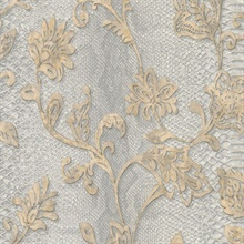 Puglia Light Grey Python Scroll Wallpaper