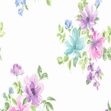 Purple and Blue Ali Floral