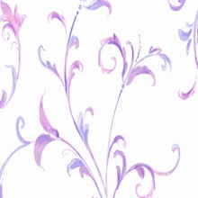 Purple and White Arbor Scroll