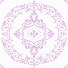 Purple and White Medallion