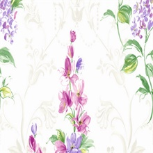 Purple and White Mimi Floral