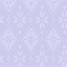 Purple Disney Frozen 2 Elsa's Bedroom Wallpaper