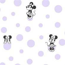 Purple Disney Minnie Mouse Dots Wallpaper