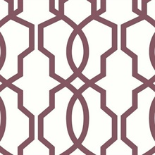 Purple Hourglass Trellis Geometric Wallpaper