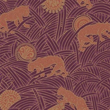 Purple & Orange Tibetan Tigers Wallpaper