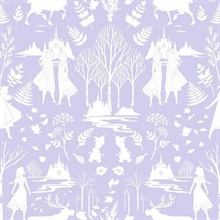 Purple Purple Glitter Disney Frozen 2 Nordic Wallpaper Wallpaper